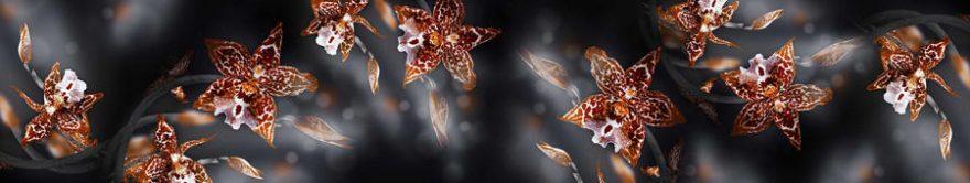 Изображение для стеклянного кухонного фартука, скинали: цветы, орхидеи, fartux788