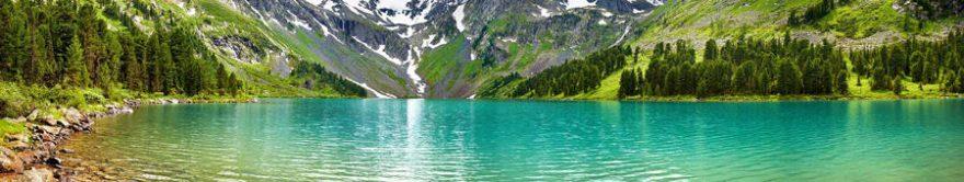 Изображение для стеклянного кухонного фартука, скинали: горы, озеро, fartux797