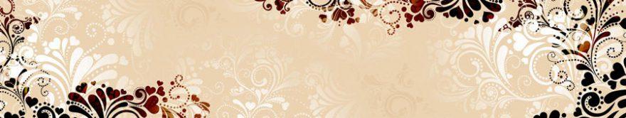 Изображение для стеклянного кухонного фартука, скинали: орнамент, fartux837