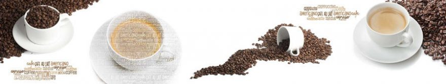 Изображение для стеклянного кухонного фартука, скинали: посуда, кофе, кружка, fartux842