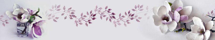 Изображение для стеклянного кухонного фартука, скинали: цветы, орхидеи, fartux845