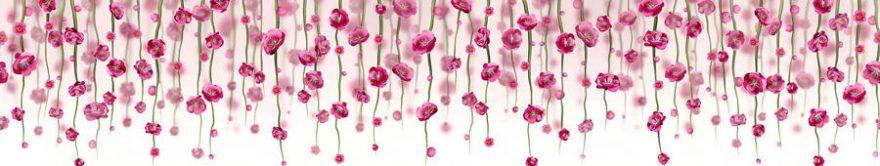 Изображение для стеклянного кухонного фартука, скинали: цветы, fartux851