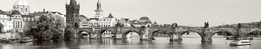 Изображение для стеклянного кухонного фартука, скинали: город, мост, архитектура, fartux853