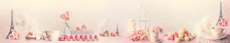 Изображение для стеклянного кухонного фартука, скинали: цветы, розы, винтаж, сладости, fartux859