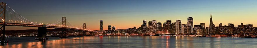 Изображение для стеклянного кухонного фартука, скинали: город, мост, небоскребы, fartux861