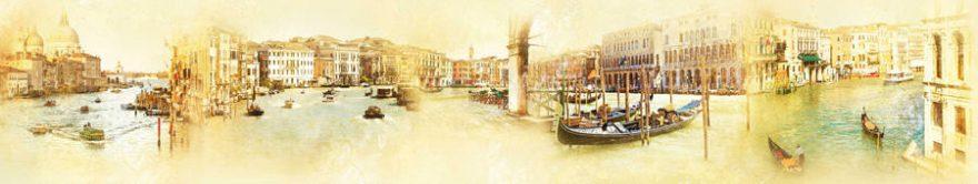 Изображение для стеклянного кухонного фартука, скинали: коллаж, город, архитектура, италия, fartux881