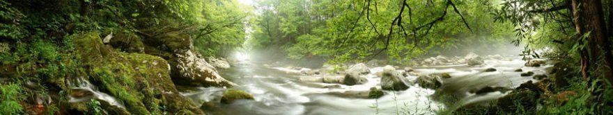 Изображение для стеклянного кухонного фартука, скинали: природа, лес, река, fartux890