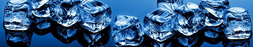 Изображение для стеклянного кухонного фартука, скинали: лед, fartux898