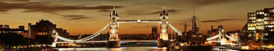 Изображение для стеклянного кухонного фартука, скинали: город, мост, архитектура, fartux907