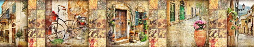 Изображение для стеклянного кухонного фартука, скинали: коллаж, улица, италия, fartux920