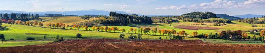Изображение для стеклянного кухонного фартука, скинали: поле, природа, холм, fartux932