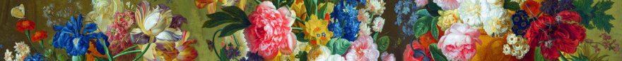 Изображение для стеклянного кухонного фартука, скинали: цветы, fartux940
