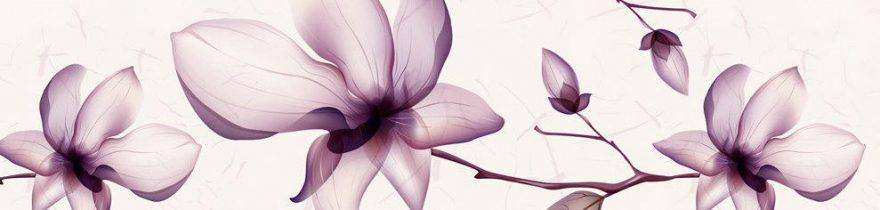 Изображение для стеклянного кухонного фартука, скинали: цветы, fartux945