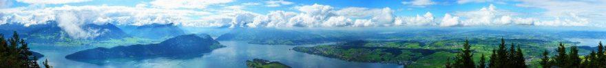 Изображение для стеклянного кухонного фартука, скинали: природа, небо, облака, река, fartux949