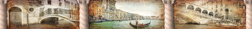 Изображение для стеклянного кухонного фартука, скинали: коллаж, город, италия, fartux966