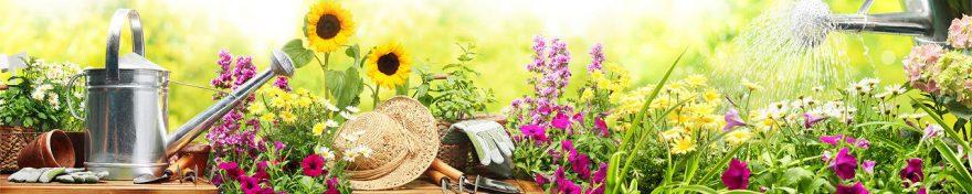 Изображение для стеклянного кухонного фартука, скинали: цветы, fartux968