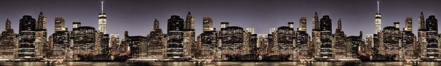 Изображение для стеклянного кухонного фартука, скинали: ночь, город, небоскребы, fartux973