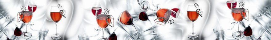 Изображение для стеклянного кухонного фартука, скинали: напитки, бокал, fartux979