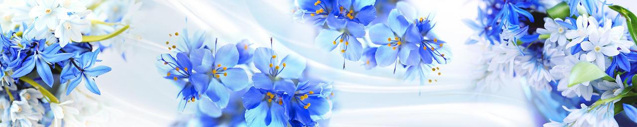 Изображение для стеклянного кухонного фартука, скинали: цветы, fartux988