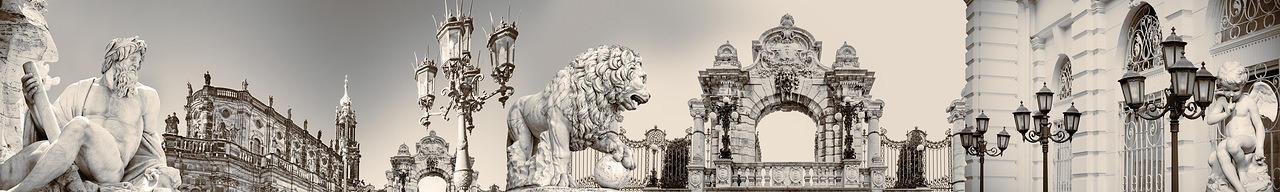 Изображение для стеклянного кухонного фартука, скинали: город, архитектура, фонари, статуя, fartux991