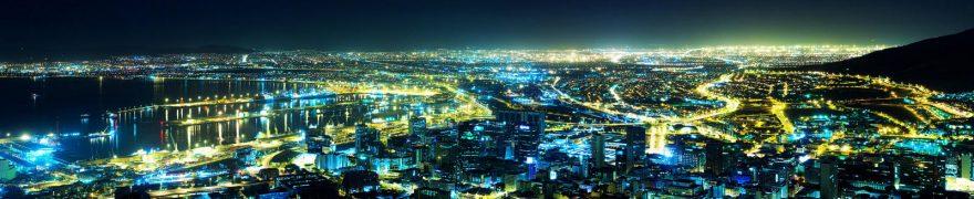 Изображение для стеклянного кухонного фартука, скинали: ночь, город, gornoch005