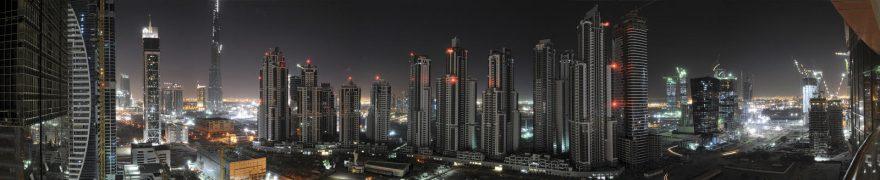 Изображение для стеклянного кухонного фартука, скинали: ночь, город, небоскребы, gornoch011