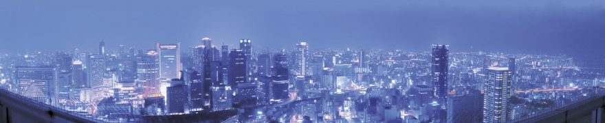 Изображение для стеклянного кухонного фартука, скинали: ночь, город, архитектура, небоскребы, gornoch012