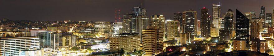 Изображение для стеклянного кухонного фартука, скинали: ночь, город, небоскребы, gornoch014