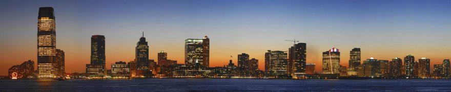 Изображение для стеклянного кухонного фартука, скинали: ночь, город, небоскребы, gornoch015