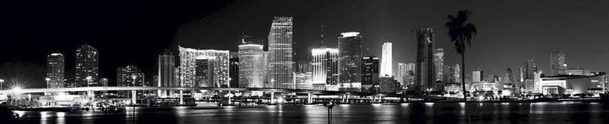 Изображение для стеклянного кухонного фартука, скинали: ночь, город, небоскребы, gornoch023