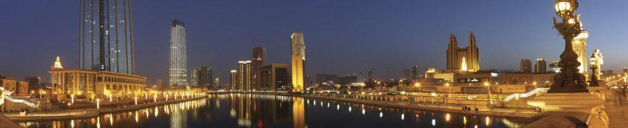 Изображение для стеклянного кухонного фартука, скинали: ночь, город, архитектура, небоскребы, gornoch025