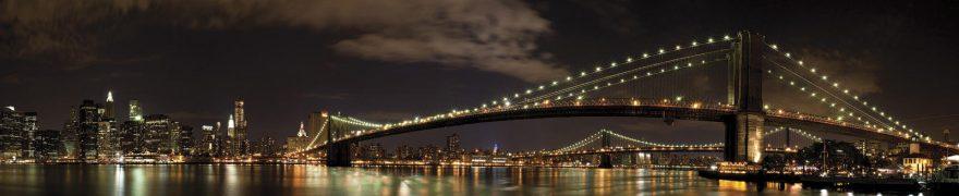 Изображение для стеклянного кухонного фартука, скинали: ночь, город, мост, gornoch026