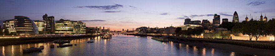 Изображение для стеклянного кухонного фартука, скинали: закат, ночь, город, река, gornoch028