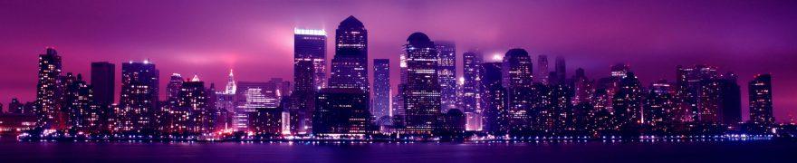 Изображение для стеклянного кухонного фартука, скинали: ночь, город, небоскребы, gornoch030