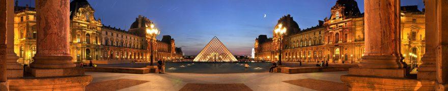 Изображение для стеклянного кухонного фартука, скинали: ночь, город, архитектура, париж, gornoch032