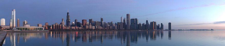 Изображение для стеклянного кухонного фартука, скинали: город, небоскребы, gorsovr003