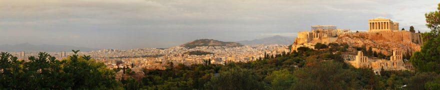 Изображение для стеклянного кухонного фартука, скинали: город, афины, gorstar003