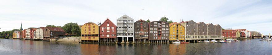 Изображение для стеклянного кухонного фартука, скинали: город, река, архитектура, gorstar005