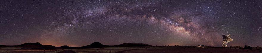 Изображение для стеклянного кухонного фартука, скинали: небо, космос, ночь, kosmosi001