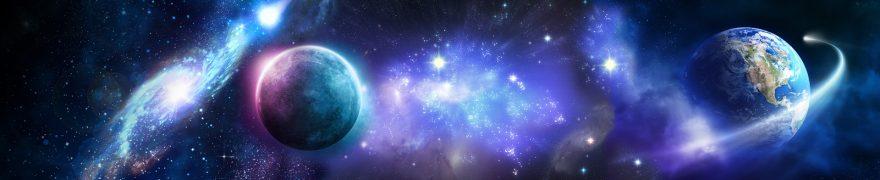 Изображение для стеклянного кухонного фартука, скинали: космос, планеты, kosmosi002