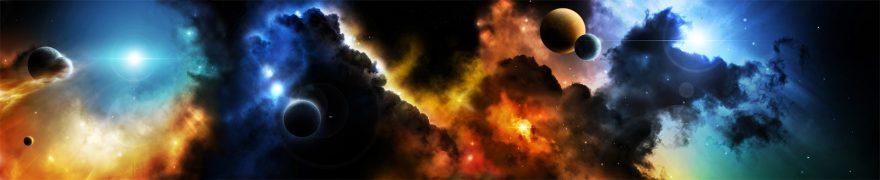 Изображение для стеклянного кухонного фартука, скинали: космос, планеты, kosmosi003