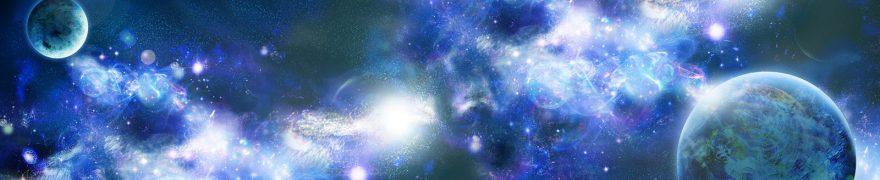 Изображение для стеклянного кухонного фартука, скинали: космос, планеты, kosmosi006