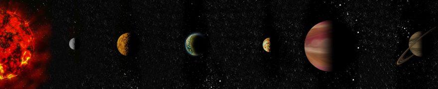 Изображение для стеклянного кухонного фартука, скинали: космос, планеты, kosmosi010
