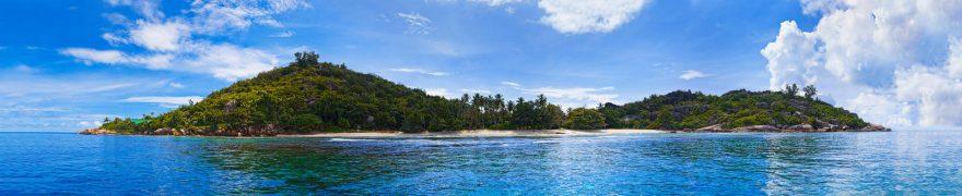 Изображение для стеклянного кухонного фартука, скинали: небо, море, облака, остров, morokea004
