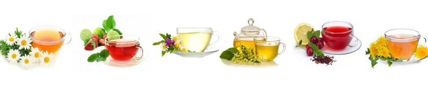 Изображение для стеклянного кухонного фартука, скинали: цветы, посуда, чай, кружка, napitki013