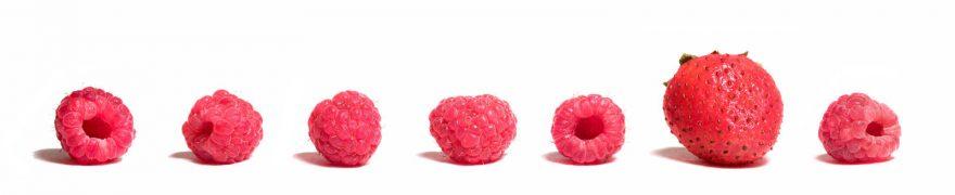 Изображение для стеклянного кухонного фартука, скинали: ягоды, малина, клубника, ovofruk002