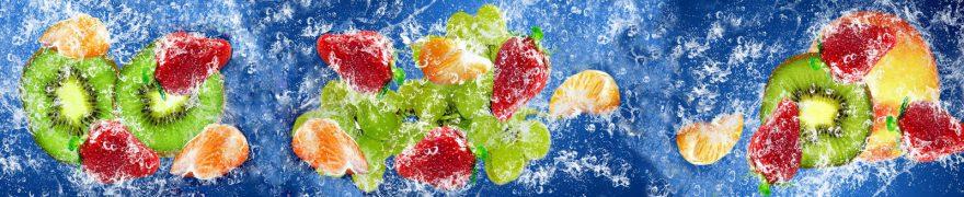 Изображение для стеклянного кухонного фартука, скинали: вода, фрукты, ягоды, ovofruk018