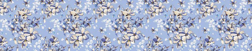 Изображение для стеклянного кухонного фартука, скинали: цветы, паттерн, patneit009