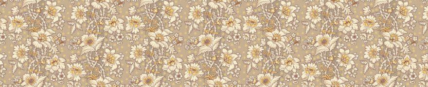 Изображение для стеклянного кухонного фартука, скинали: цветы, паттерн, орнамент, patneit013