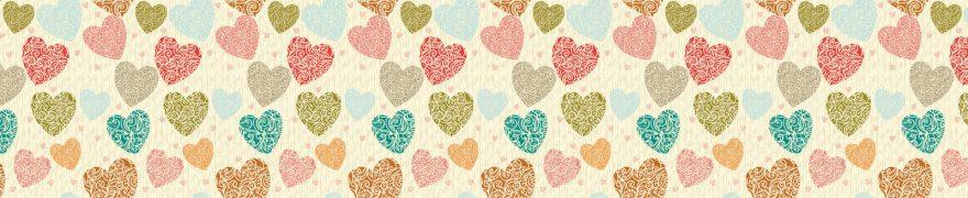 Изображение для стеклянного кухонного фартука, скинали: паттерн, текстура, сердце, patneit017